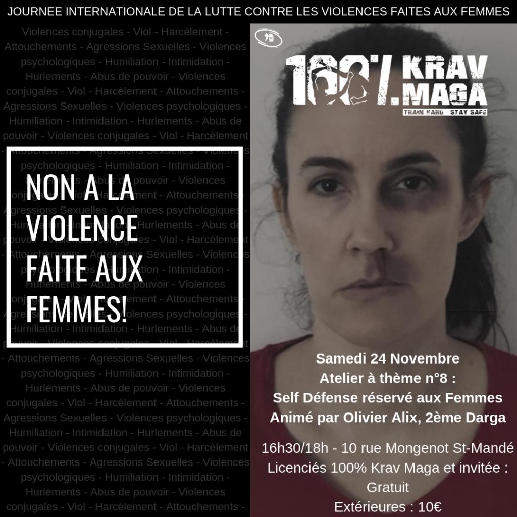 Atelier 100% Krav Maga Self Défense réservée aux femmes
