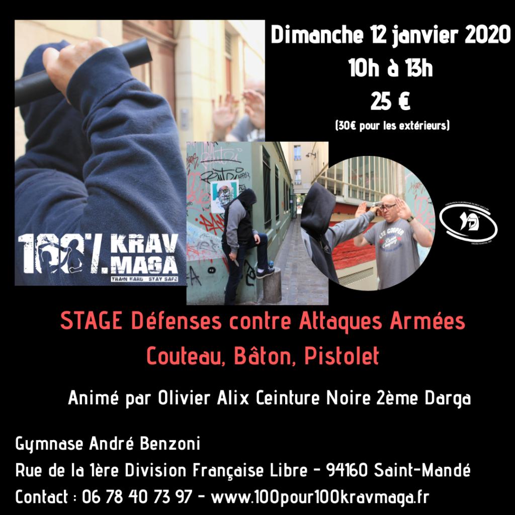 stage de Krav Maga le 12 janvier 2020