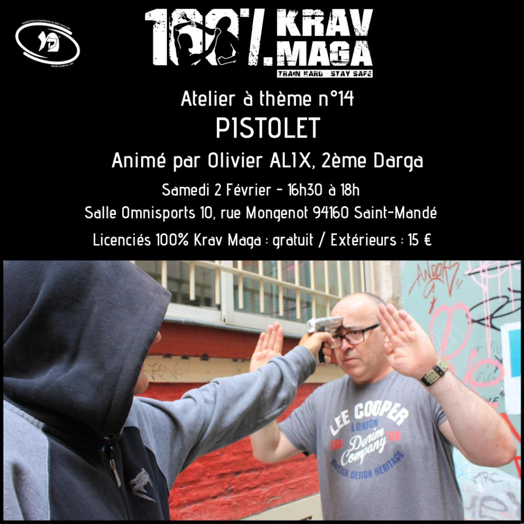 Atelier à thème 100% Krav Maga Défenses contre Menaces au Pistolet