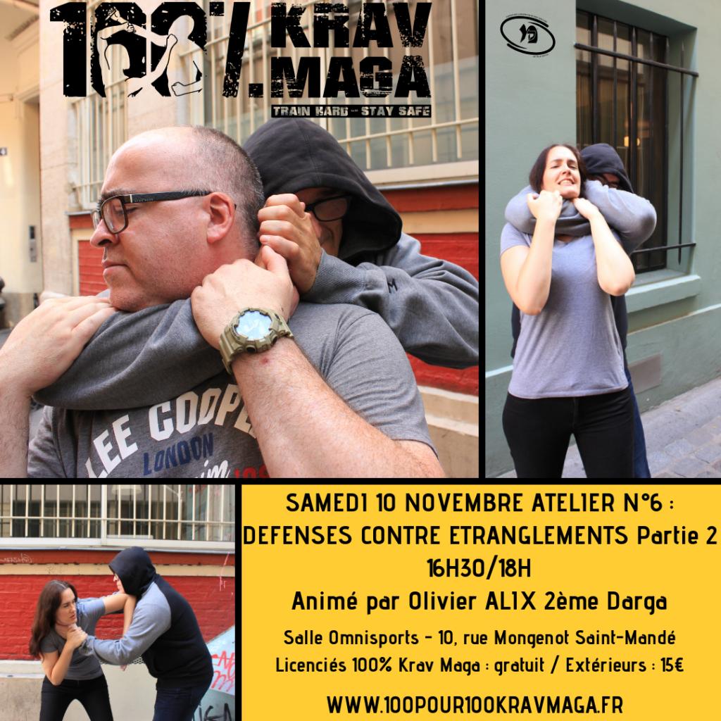 Atelier 100% Krav Maga n°6 Défenses contre Etranglements Partie 2